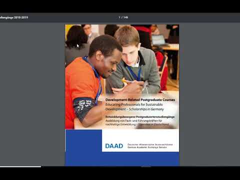 How to apply for DAAD EPOS Scholarship (Arabic - Sudan)