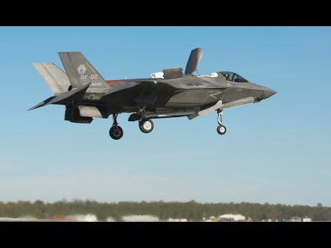 F-35B VERTICAL LANDING on Sloped Surface Tests (U.S. MARINES)