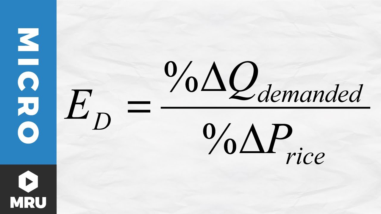 Calculating the Elasticity of Demand | Microeconomics Videos