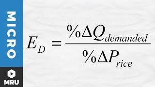 Calculating the Elasticity oḟ Demand