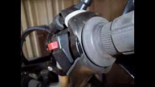 DIY Motorcycle Cruise Control made from an inner tube.