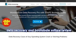 Bootable pen drive and recovery software By Wondershare