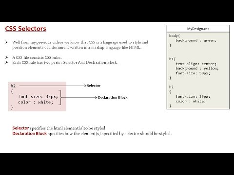 Element Selector in CSS / HTML - YouTube