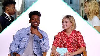 Olivia Holt & Aubrey Joseph of Marvel