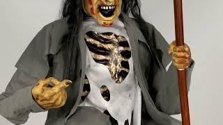 ANIMATED CROUCHING GRAVEDIGGER WITH SHOVEL Halloween Prop