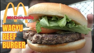 New McDonalds Wagyu Beef Burger Food Review - Limited Time Only - Greg's Kitchen
