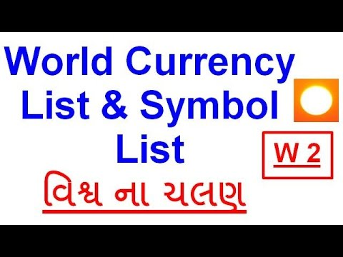 World Currency List Symbol