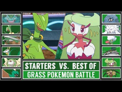 GRASS STARTER POKÉMON Vs BEST OF GRASS POKÉMON (Pokémon Sun/Moon)