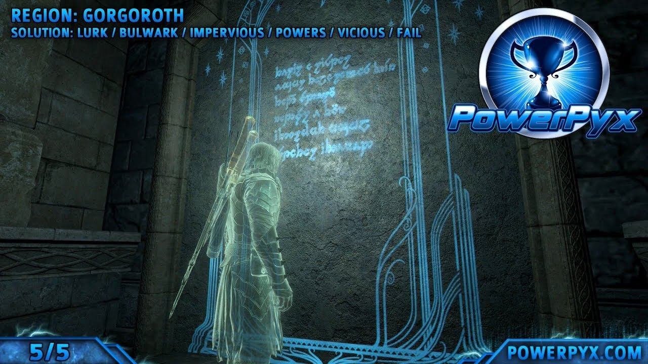Middle Earth Shadow Of War All Ithildin Door Poem Solutions Bright Lords Set Showcase