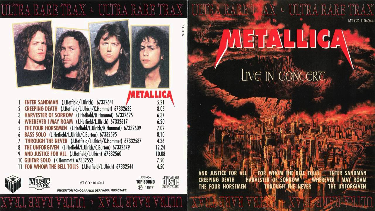 Metallica - Live In Concert [Full Bootleg Album (1992 ...