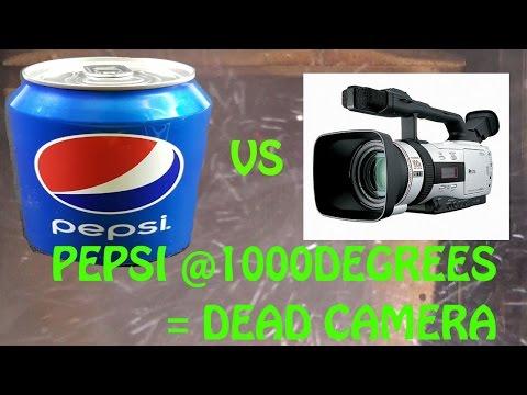 Pepsi Cola killed my camera @1000Degrees Celsius.