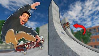I SKATED A REAL LIFE SKATE SPOT! (Skater XL)