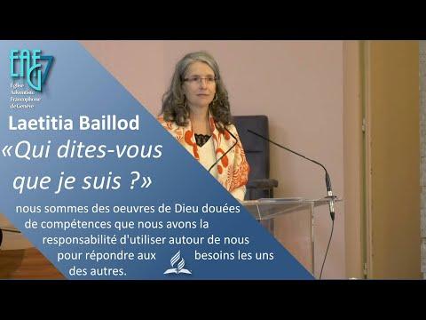 """Culte du 9 octobre 2021 - Laetitia Baillod - """"Qui dites-vous que je suis ?"""""""