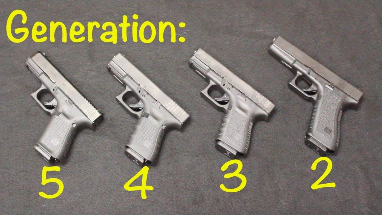 Glock 19 Gen 5 vs Gen 4 vs Gen 3 - YouTube