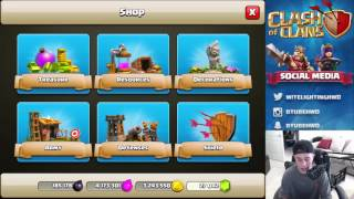 MYSTIC7 Plays CLASH OF CLANS SCARY PUMPKIN BASE! New Clash of Clans Halloween Update! FARM IT UP!