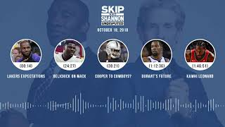UNDISPUTED Audio Podcast (10.18.18) with Skip Bayless, Shannon Sharpe & Jenny Taft | UNDISPUTED