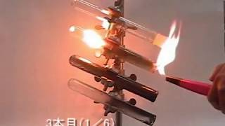 【ASNR プリント黒板実験映像234】アセチレンの発生、燃焼と爆発