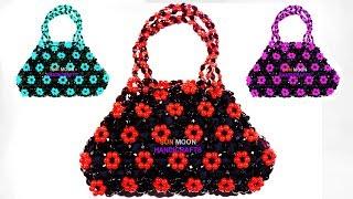 How to make Beaded Hand bag for beginners/  easy hand bag/ পুতির ব্যাগ/ জলপাই পুতির ব্যাগ
