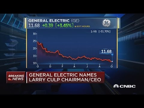 General Electric names Larry Culp as chairman and CEO