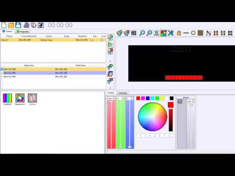 DMX512 software LED player tutorial - YouTube