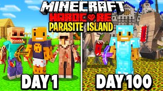 Download lagu We Survived 100 Days in a Deserted Parasite Island in Hardcore Minecraft... Here's What Happened