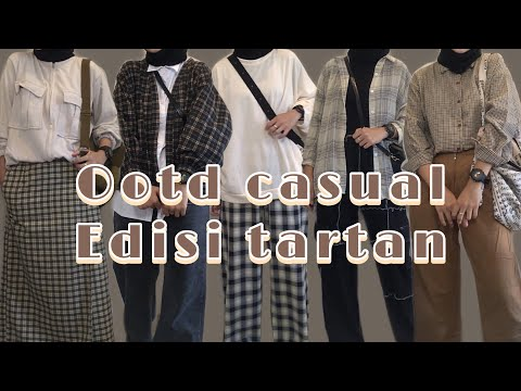 MULAI 60ribuan!!😍 SHOPE HAUL TARTAN VEST,OUTER,SKIRT,PANTS,KEMEJA, OOTD TARTAN CASUAL - YouTube