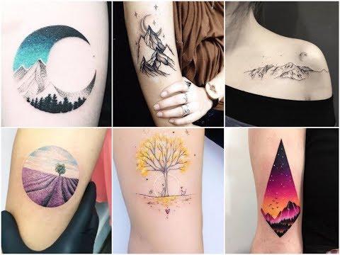 Awesome Nature Landscape Tattoo Design Ideas
