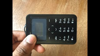 415) EDC-Credit card shaped phone unboxing(aliexpress)