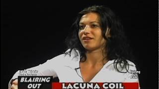 LACUNA COIL's Cristina Scabbia talks w Eric   Blair 2004