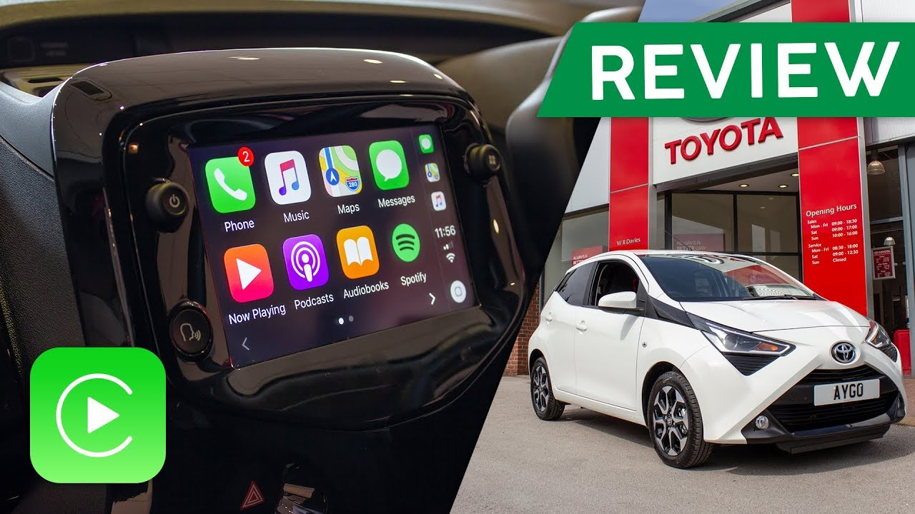 new 2018 toyota aygo apple carplay review youtube. Black Bedroom Furniture Sets. Home Design Ideas