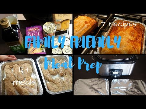 Family Friendly Freezer Cooking and Meal Prep | 7 recipes |