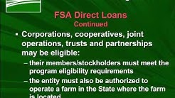 USDA FSA Loan Programs