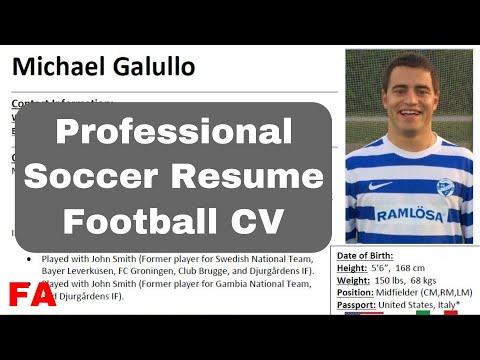 How to Make a Soccer Resume & Football CV