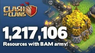 Clash of Clans TH10 - Record Loot - Over 1,200,000 in Resources
