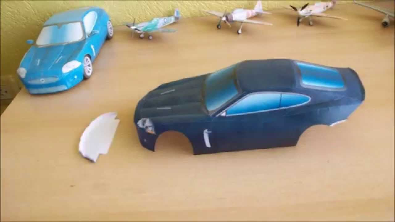 Papercraft Jaguar XKR Papercraft (Remake)