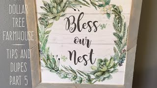 DIY Dollar Tree  Farmhouse  Tips and Dupes  Part 5 Grey Washed Wooden Framed Art