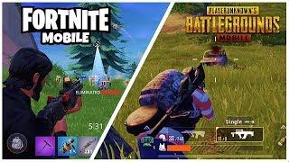 FORTNITE MOBILE Vs PUBG MOBILE - Ultimate Battle Royale Comparison