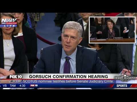 "EMOTIONAL: Neil Gorsuch PLEADS With Sen. Feinstein at Confirmation Hearing - ""I'm a Fair Judge"""