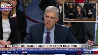 EMOTIONAL: Neil Gorsuch PLEADS w/ Sen. Feinstein at Confirmation Hearing -