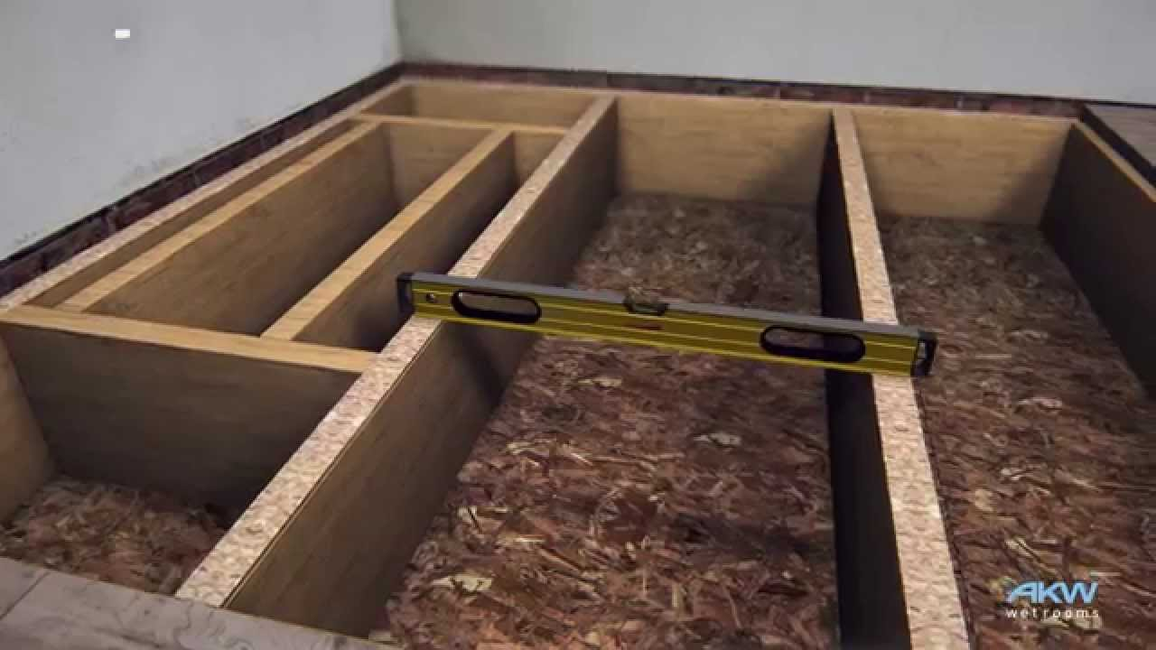 Akw triform how to install a wet room former on a timber for How to fit a wet room floor