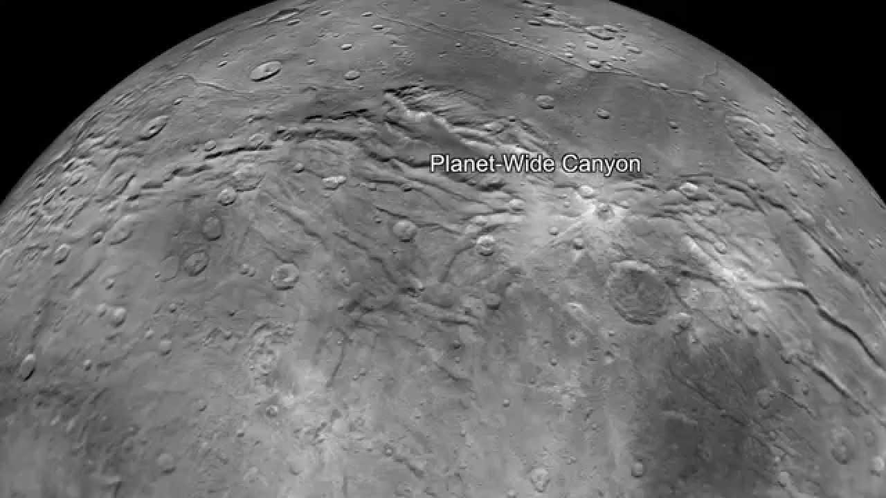 Kerberos Moon Of Plluto: Flying Over Charon