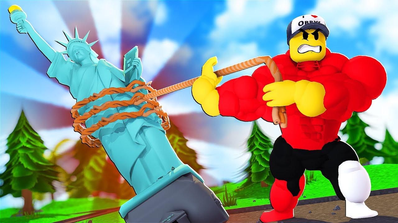 TAHÁM NEJTĚŽŠÍ OBJEKTY NA SVĚTĚ! (Roblox Strongman Simulator)