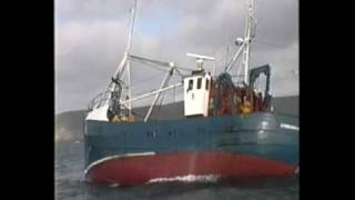 An Irish fishing trawler herring fishing