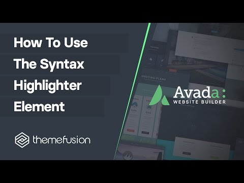 How To Use The Syntax Highlighter Element Video