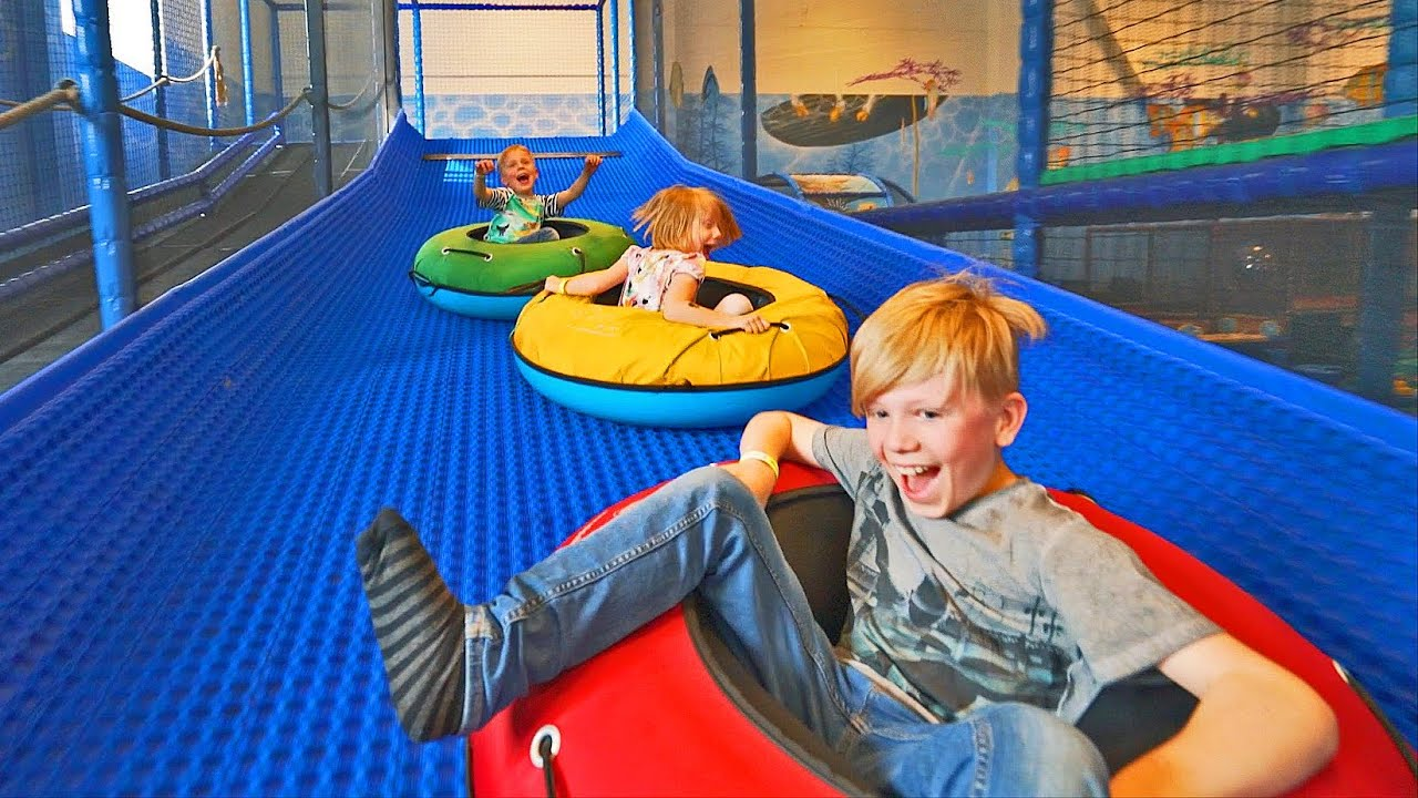 Just slide more ride along with family playlab indoor for Indoor play slide