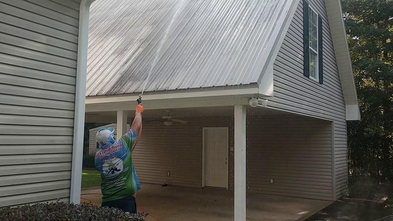 Metal Roof Washing Covington Louisiana Pt 1 of 2