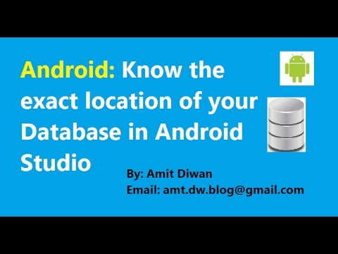 Android: Locate and view SQLite Database in Android Studio