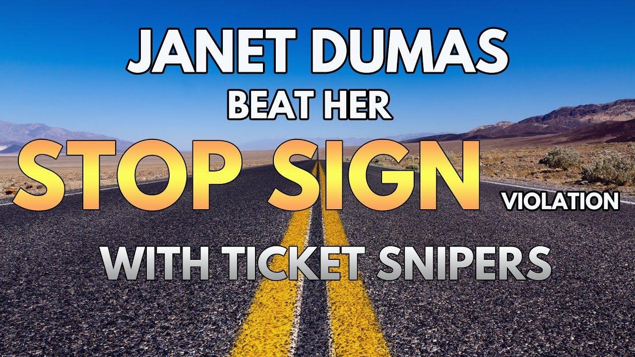 Stop sign ticket dismissed