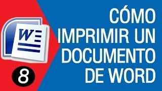 Como Imprimir un Documento de WORD 2007│2010│2013