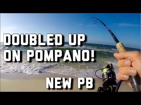 Surf Fishing- I ALMOST LOST MY ROD/REEL- NEW PB/Best 3 Pompano Bag